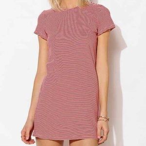 UO bycorpus red stripe t-shirt dress